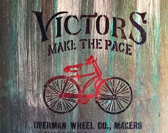 timber sign, victor bikes.