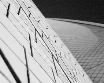 Sydney Opera House - Black & White Art Photography - Fine Art Print - Travel Photography - Sydney, Australia - Tiles Home Decoration Wall