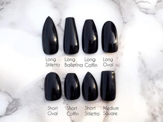 Medium Grey Press On Nails