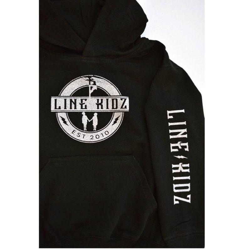 Black Hoodie with Metallic Silver Design Unisex