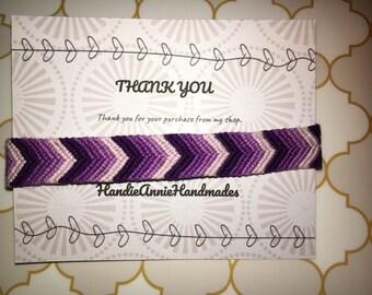 Purple Chevron Friendship Bracelet