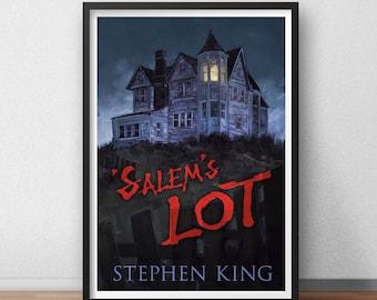 Salem's Lot Stephen King  Vampires Book Cover Horror Retro Classic Movie Film Artwork Alternative Design Minimal Minimalist Poster Print