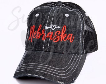 newest 95687 9ca15 ... inexpensive cute nebraska hat embroidered nebraska cap ladies nebraska  cap womens nebraska cap 1f9bc e615e
