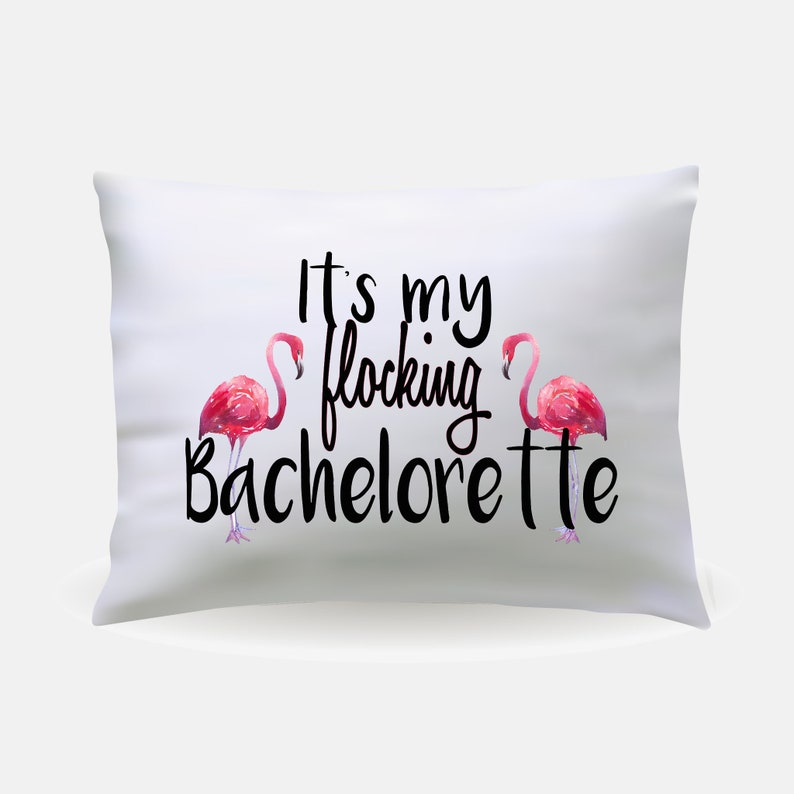 Flamingo Bachlorette Party Pillowcase  Flamingo Bride image 0