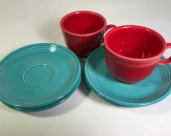 Fiestaware saucers - set of 4