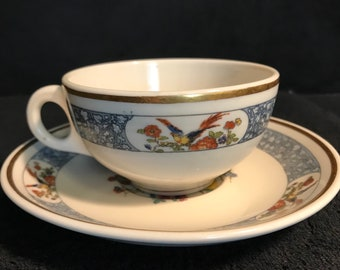 1920's Lamberton Scammel Tea Cup & Saucer (made for the Hotel Bossert in NYC)