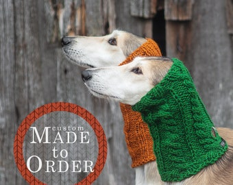 Wool dog snood / Custom made to order / Warm snood for dog / Hand knit 100% wool / Available in all sizes from small to extra large