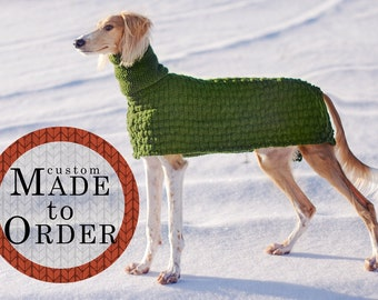 Sweater for large dogs / 100% wool / Custom made to order / Winter dog coat