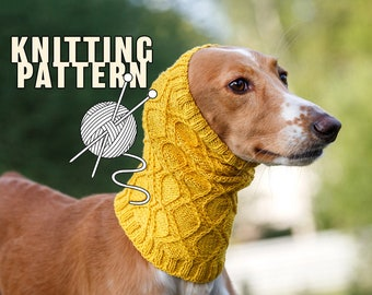 Knitting pattern for dog snood / Summer snood for dog / Written and chart knitting instructions / Suitable for all sizes