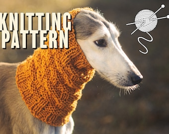 Knitting pattern for dog snood / Winter snood for dog / Written and chart knitting instructions / Suitable for all sizes