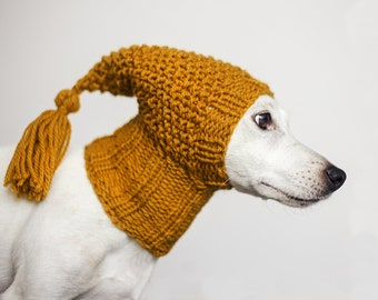 Hat for dogs / 100% wool / Custom made, hand knit / Extra warm dog hat / Winter dog clothes