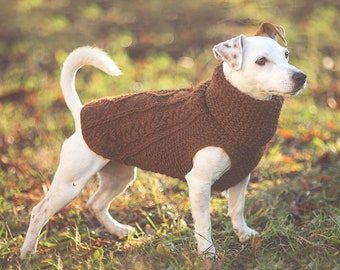 Dog coat / Warm 100% wool / Custom made to order / Winter dog sweater / Available in all sizes from small to extra large