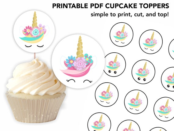 photo relating to Unicorn Cupcake Toppers Printable identified as Unicorn Cupcake Topper / Deal with Topper /Unicorn Cupcakes / Printable Cupcake Topper / Printable Unicorn Cupcake Topper