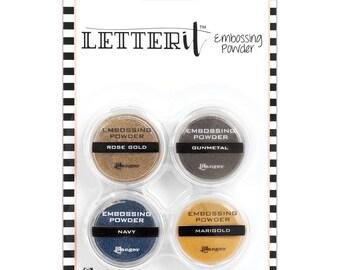 Ranger Metallics Letter It Embossing Powder Set