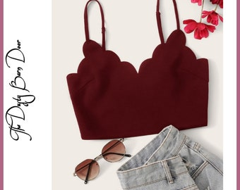 Burgundy Red Crop Top