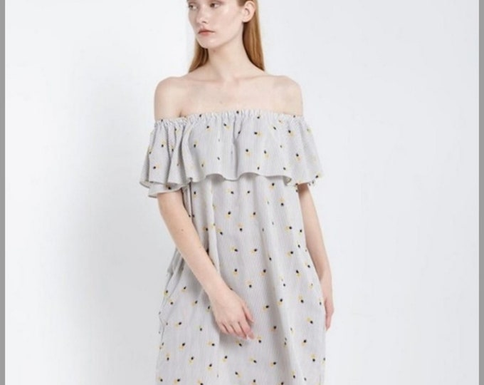 Pineapple Striped Dress