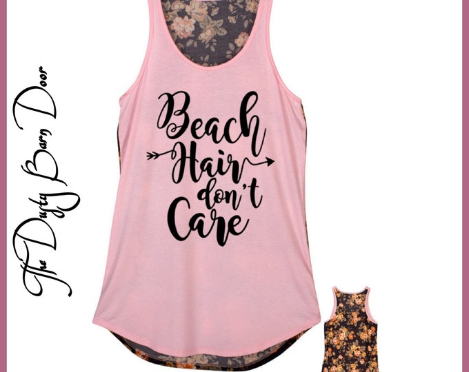 Beach Hair Dont Care Tank Top