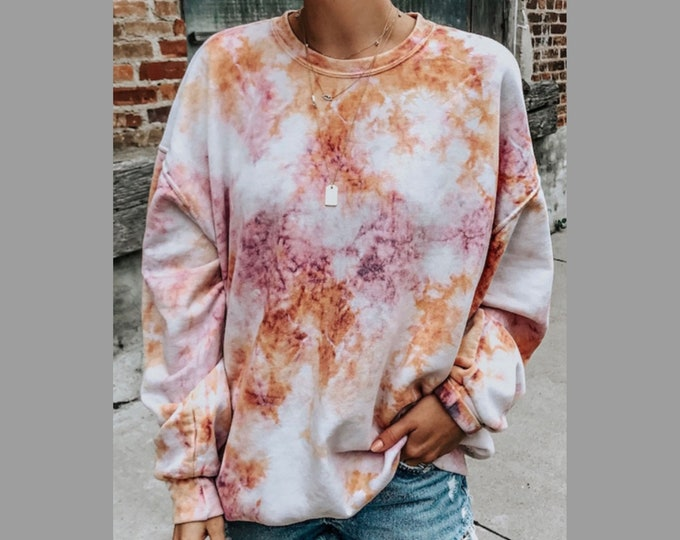 Tie-Dye Red Sweatshirt