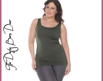 Plus Size Green Tank Top