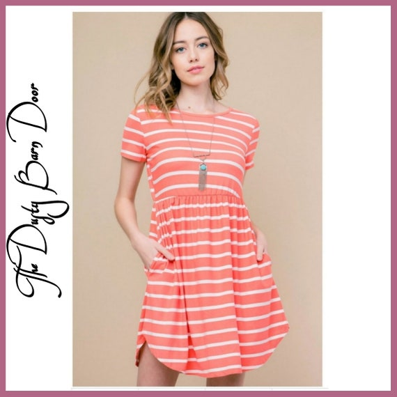 Spring Into Coral Dress