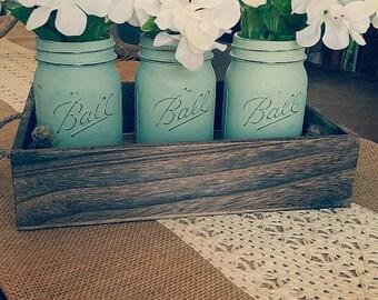 Mason Jars and tray