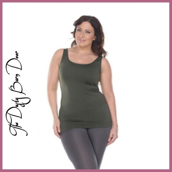 Can Do Tank Top (Olive)