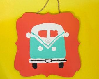 Volkswagon Van Wall Plaque