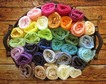 Full Set of 34 Newborn Cheesecloth Wraps, Baby Wraps, Maternity Cheesecloth Wraps