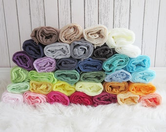 Set of 34 Newborn Cheesecloth Wraps, Baby Wraps, Maternity Cheesecloth Wraps