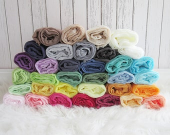 Set of 20 Newborn Cheesecloth Wraps, Baby Wraps, Maternity Cheesecloth Wraps