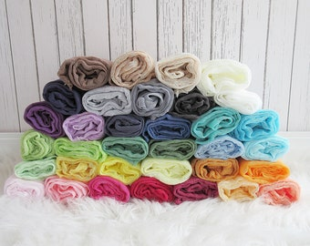 Set of 10 Newborn Cheesecloth Wraps, Baby Wraps, Maternity Cheesecloth Wraps