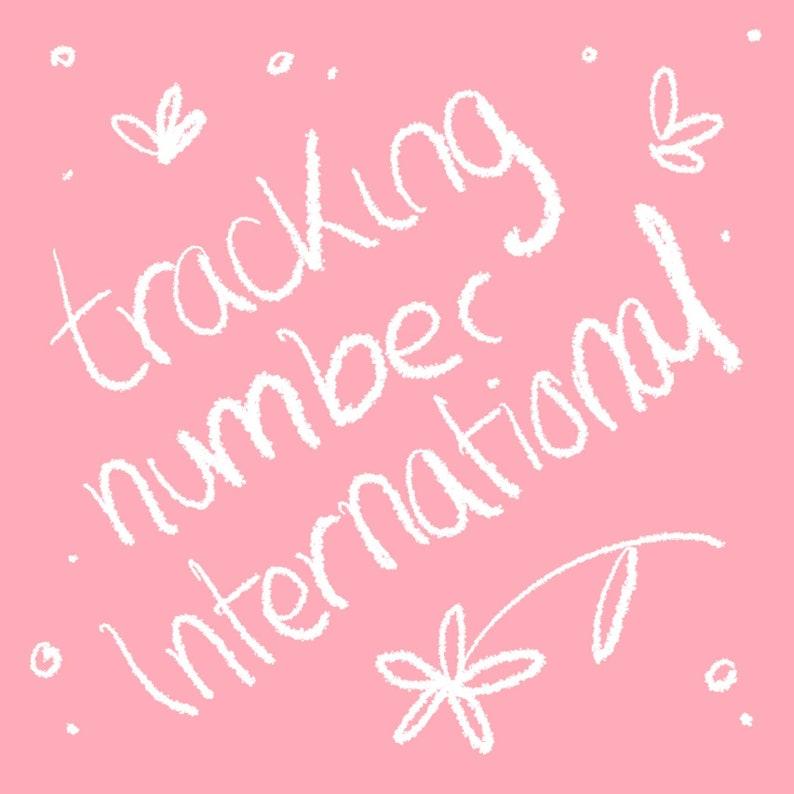Tracking number for international destinations