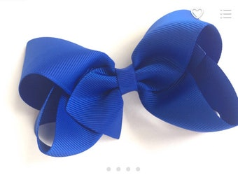 4 inch royal blue boutique bow