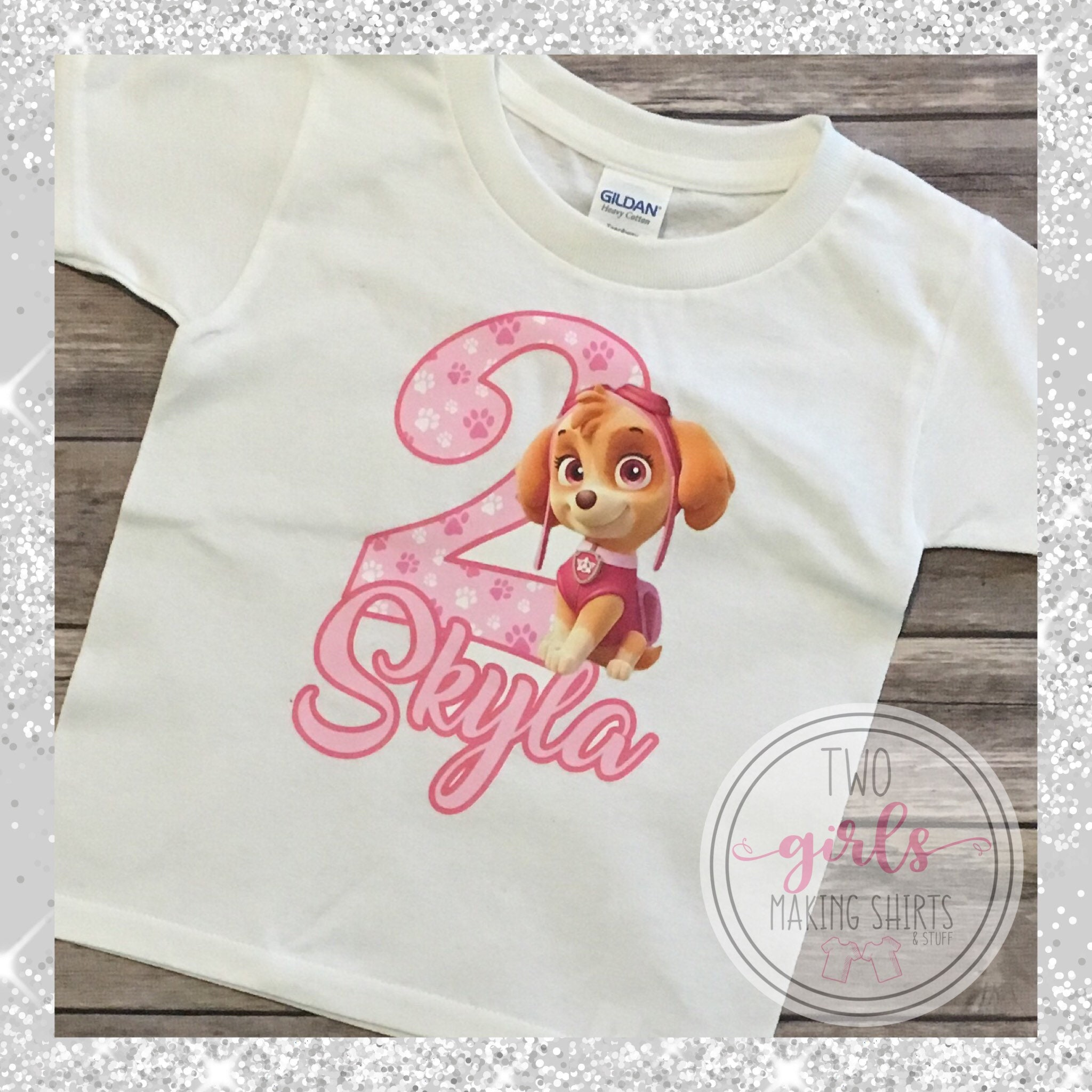 Paw Patrol Birthday Shirt Girls T Skye