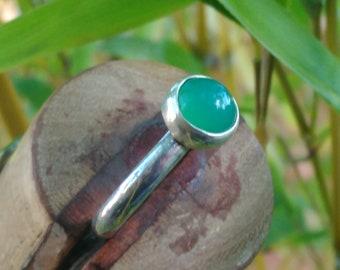 chrysoprase 925 sterling silver ring