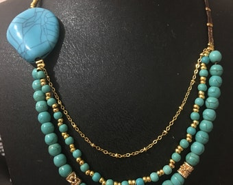 For mother's Day.Mix bead and stone necklace