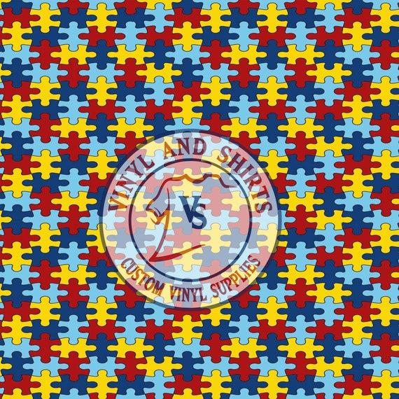 "/""Autism Awareness"" Oracal 651 Patterned Vinyl"