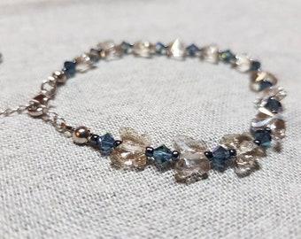 Handmade Swarovski crystal bracelet. One of a kind.