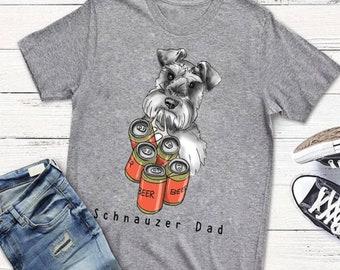 8f23a78b Schnauzer Dad T-shirt, Men T-shirt