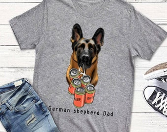 9d4b4c08 German Shepherd Dad T-shirt, Men T-shirt
