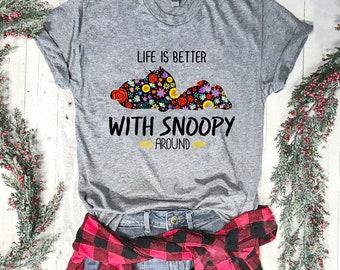 204ff26ab021 Snoopy Life Premium Female T- shirt