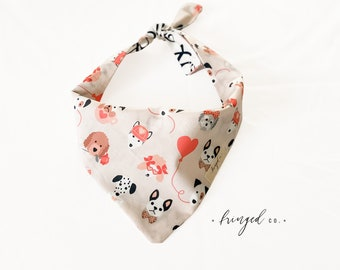 pet accessory bunnies Tie-On dog accessory minimalist boho mauve Double-Sided Easter Bunny Dog Bandana Reversible
