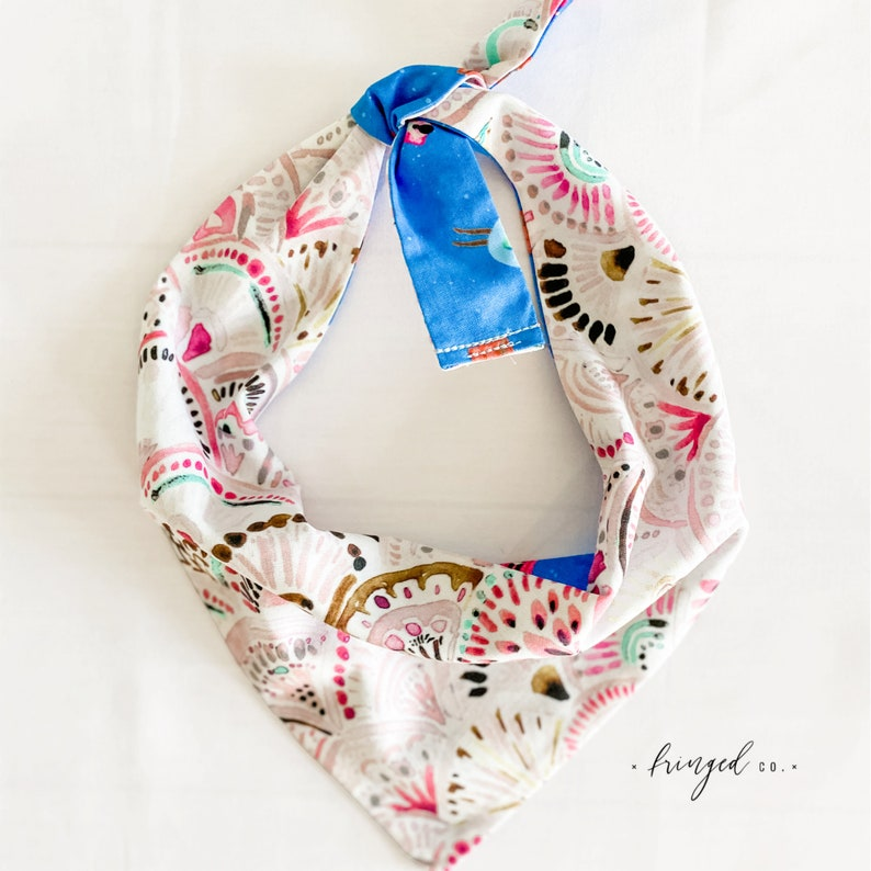 watercolor Tie-On dog accessory Pool Floats Summer Dog Bandana Double-Sided pool party summer boho pet accessory Reversible