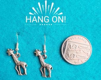 Handmade Tibetan Silver Giraffe Earrings