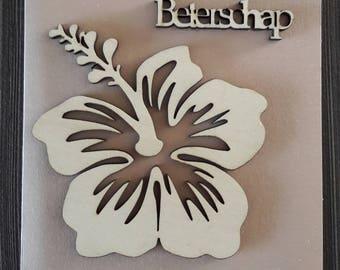 Wooden Flower Card