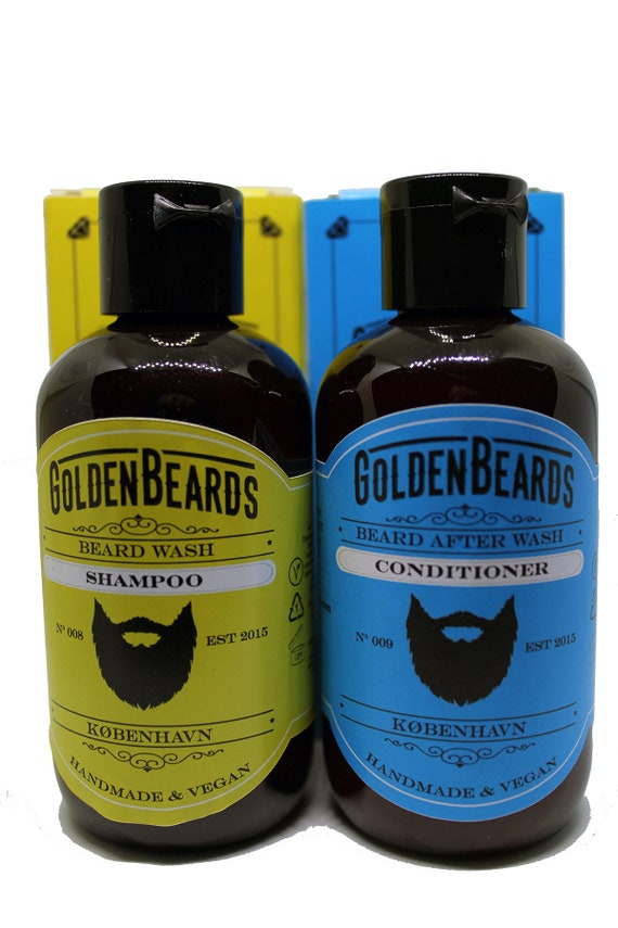 Beard Shampoo And Conditioner Set Bundle by Golden Beards the Best Beard  Wash w/ Organic Oils & Nutrients to Shampoo and Soften Your Beard