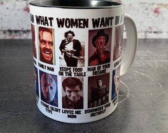 Horror Movie Addict Coffee Mug 15 oz - Horror Movie Gift Horror Movie Mug
