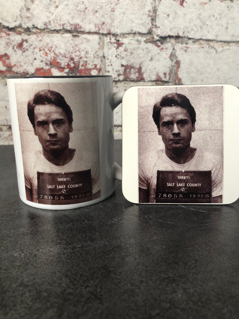 Ted Bundy Serial Killer True Crime Coffee Mug & Coaster set