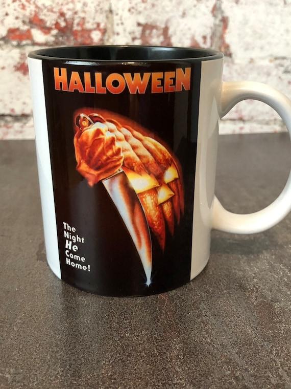 Halloween Movie Poster Michael Myers Coffee Mug Horror Gifts Etsy