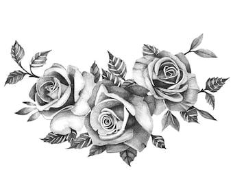 Roses Tattoo Etsy